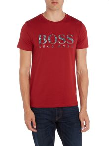 Hugo Boss Tommi 3 regular fit marble logo printed t shirt