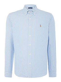 Long sleeve butchers stripe shirt