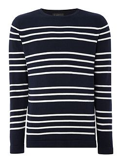 Stripe Crew Neck Knitted Jumper
