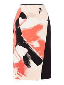 Ellen Tracy Floral print wrap skirt