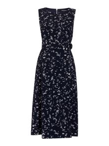 Ellen Tracy Printed dress with tie waist