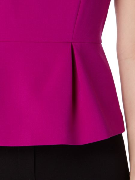Ellen Tracy Short sleeve peplum top