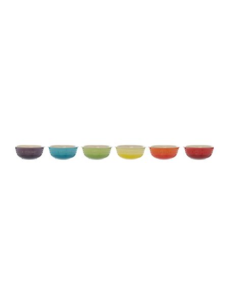 Le Creuset Set of 6 rainbow cereal bowls