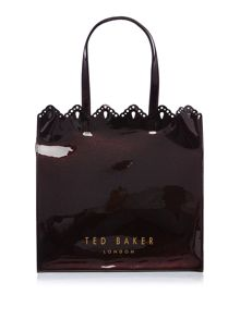 Ted Baker Belacon burgundy large bowcon bag