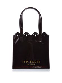 Ted Baker Idacon burgundy small bowcon bag