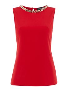 Episode sleeveless top with chain neckline