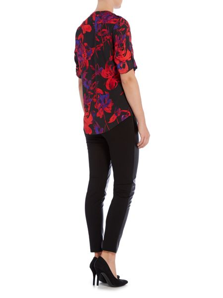 Episode long sleeved printed blouse with pockets
