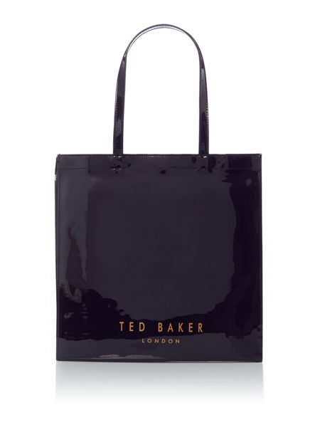 Ted Baker Appcon navy large bowcon bag