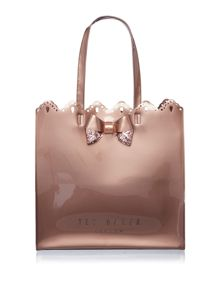 Ted Baker Belacon rose gold bowcon bag