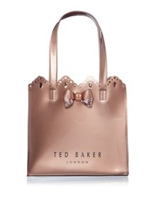 Ted Baker Idacon rose gold small bowcon bag