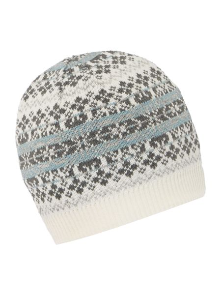 Dents Fairisle knitted hat