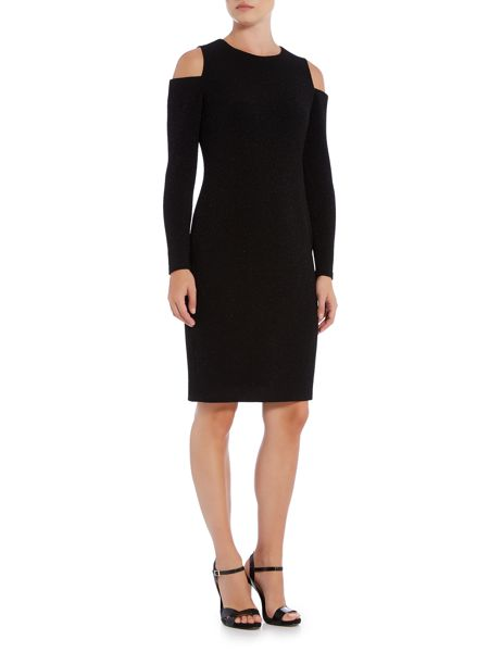 Episode Cold shoulder dress with expossed zip