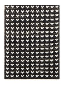 Dents Heart print scarf