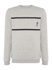 Jack & Jones Two Stripe Crew Neck Sweatshirt