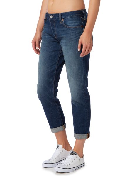 Levi's 501 boyfriend fit tapered jean in roasted indigo