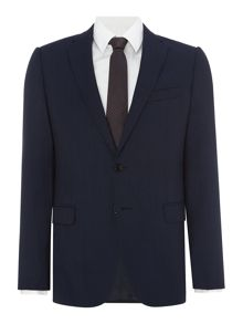 Armani Collezioni Single Breasted Wool Blue Two-Piece Suit