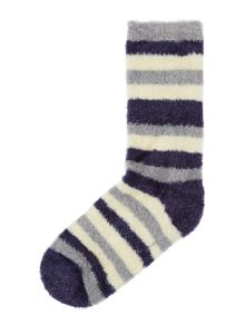Linea Stripe supersoft lounge sock