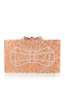 Ted Baker Rose Gold Bowwe Clutch Bag