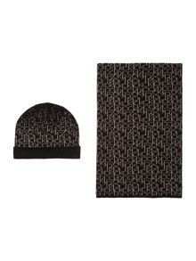 Calvin Klein Logo hat and scarf gift set