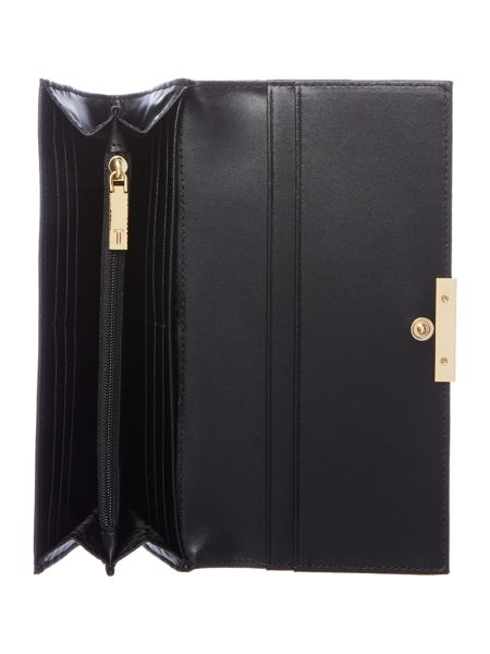 Ted Baker Kaleigh black large flapover purse