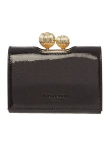 Ted Baker Delissa black small flapover purse