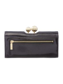 Ted Baker Kalina black large flapover purse