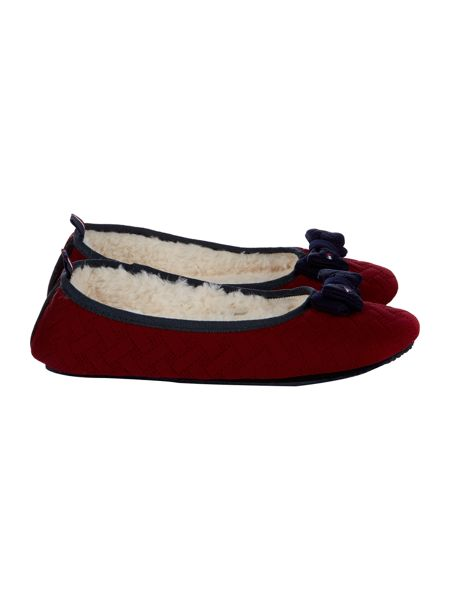 Tommy Hilfiger Quilted bow slipper