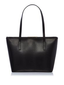 Ted Baker Cortney small black glitter tote bag