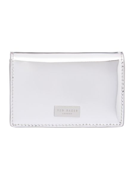 Ted Baker Antonie silver small flapover purse