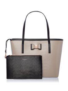 Ted Baker Carilen neutral large tote bag
