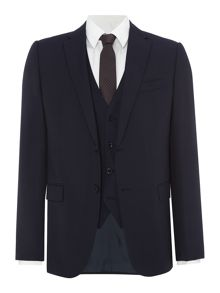Armani Collezioni Single Breasted Wool Navy Suit