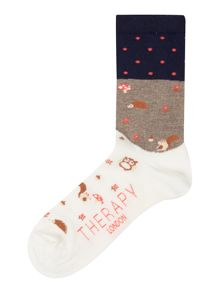 Therapy Woodland scene socks