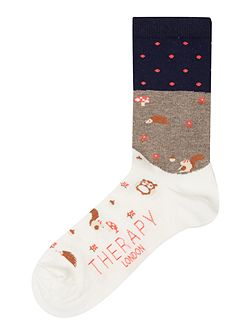 Woodland scene socks