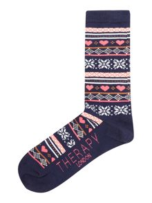 Therapy Fairisle sock