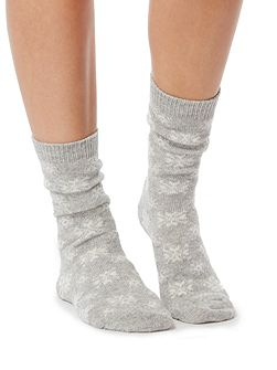 Cashmere blend snowflake sock