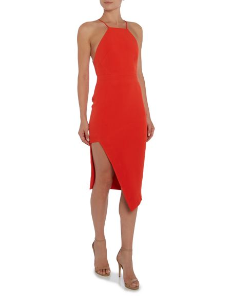 Talulah Short Sleeve Side Split Bodycon Dress