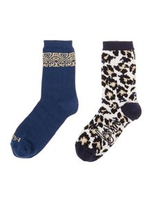 Biba Biba placement leopard sock box
