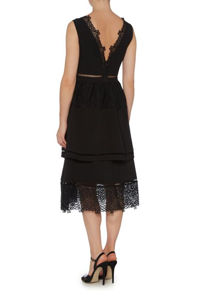 Lost Ink Sleeveless Tiered Skirt Fit and Flare Dress