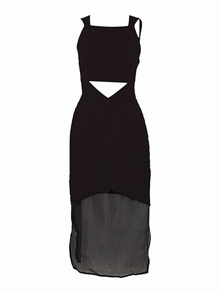 Lost Ink Sleeveless Cut Out Panel Shift Dress