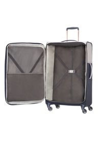 Samsonite Uplite pearl & navy 4 wheel 78cm large suitcase