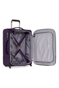Antler Cyberlite II purple 2 wheel soft cabin suitcase