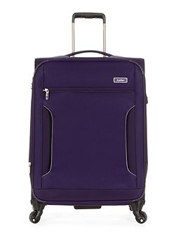 Cyberlite II purple 4 wheel soft medium suitcase