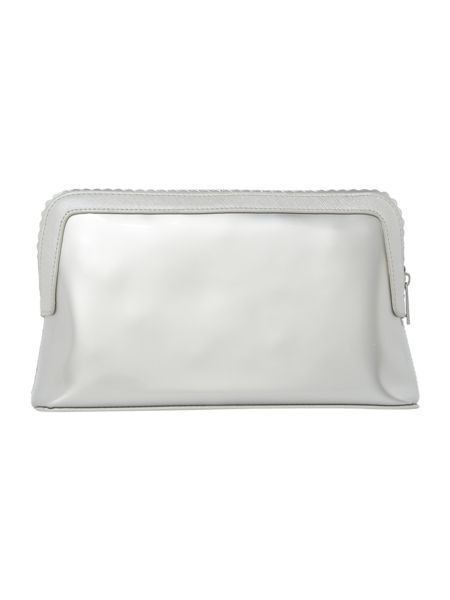 Ted Baker Ardith silver large scallop makeup bag