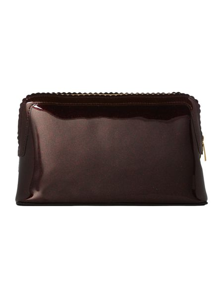 Ted Baker Ardith burgundy large scallop makeup bag