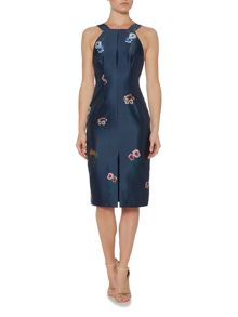 Keepsake Square Neck Floral Detail Dress