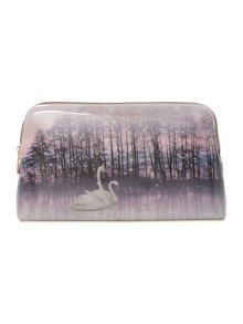 Ted Baker Conila neutral swan makeup bag