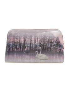 Ted Baker Conila neutral swan cosmetic bag