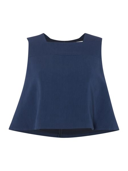 Keepsake Sleeveless Square Neck Crop Top