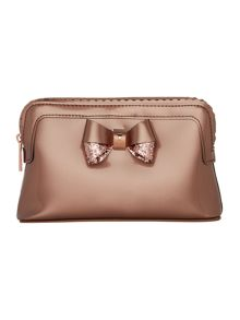 Ted Baker Elden rose gold small scallop cosmetic bag