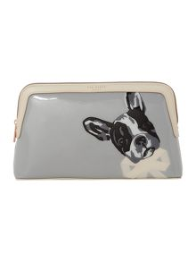Ted Baker Harlonn grey large cosmetic bag
